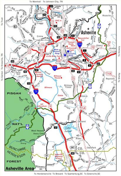 Asheville NC Tourist Map - Asheville North Carolina • mappery on