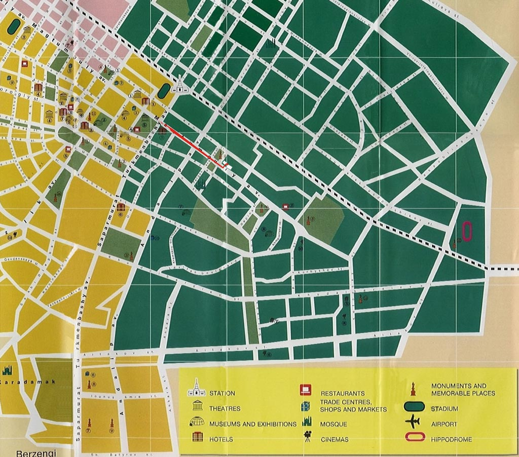 Ashgabat Map | Maps