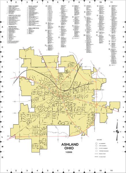 Ashland City Map Ashland Ohio Mappery