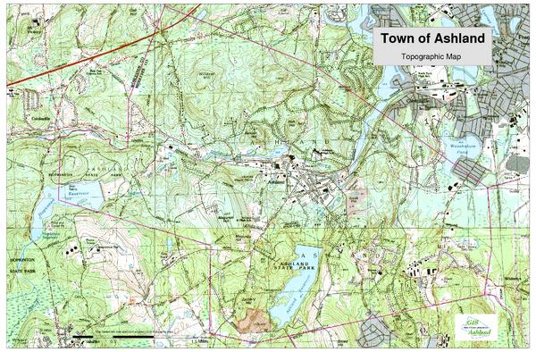 Topographic Map Massachusetts.Ashland Ma Topo Map Ashland Ma 01721 Usa Mappery