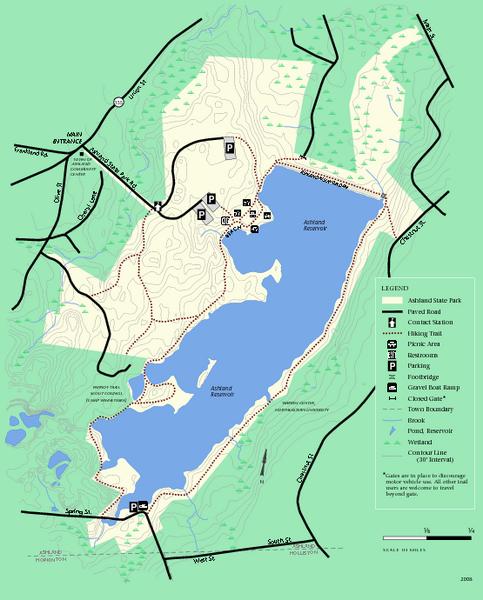 Ashland State Park Map Ashland State Park MA mappery
