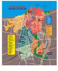 Ashtabula Tourist Map
