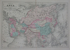Asia in the 1890s Map