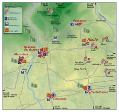 Asolo Italy Area Map