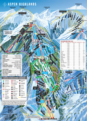 Aspen Highlands Ski Trail Map