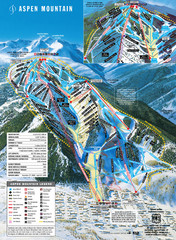 Aspen Mountain Ski Trail Map