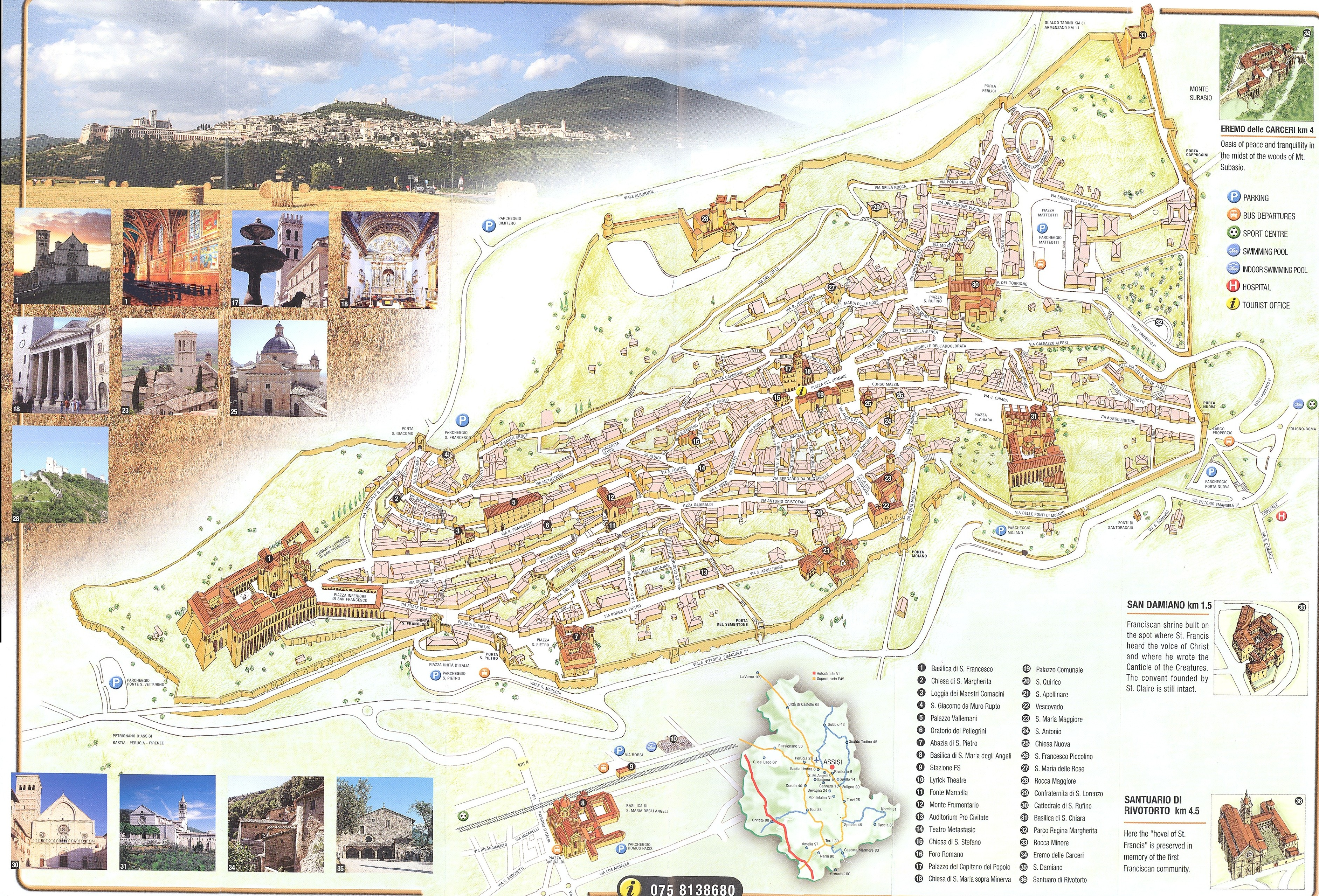 Assisi Map assisi it mappery