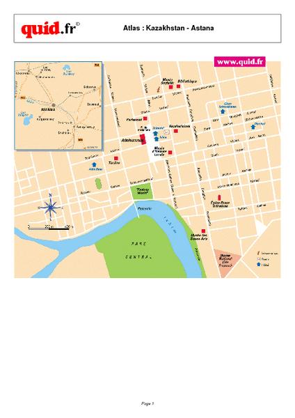Astana City Map Astana Kazakhstan mappery