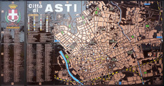 Asti map at stazione