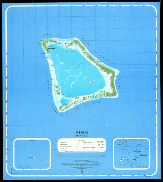 Atafu Map Atafu Tokelau Mappery - Tokelau map