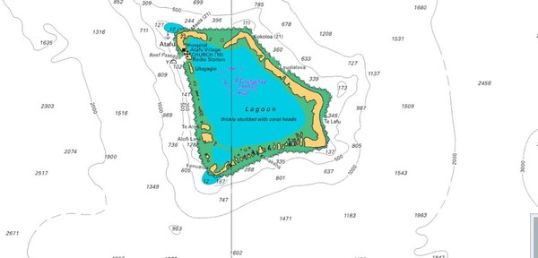 Atafu Atoll Map Tokelau Mappery - Tokelau map