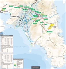 Athens Airport Access Map