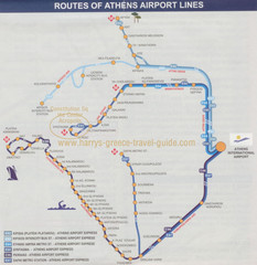 Athens Airport Lines Map