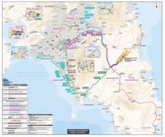 Athens Bus Service Map (Greek)