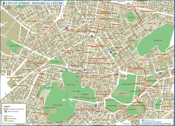 Greece maps mappery – Athens Tourist Attractions Map