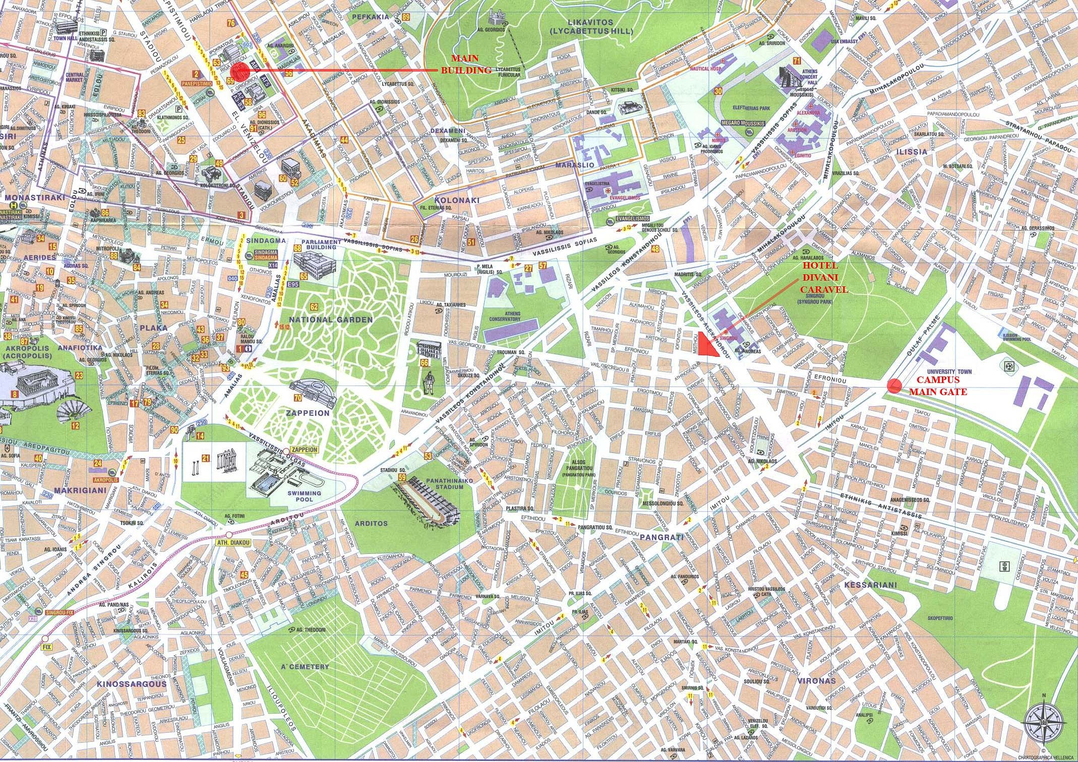 Athens Map Athens Greece Mappery - Where is athens