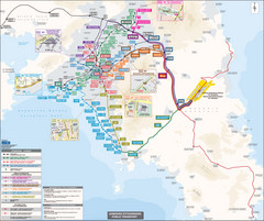 Athens Public Transportation Map (Greek)
