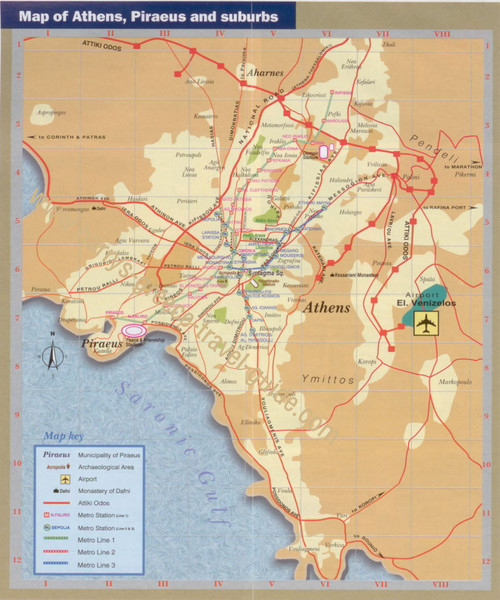 Athens Tourist Map Athens Greece mappery – Athens Tourist Attractions Map