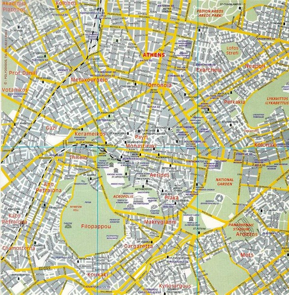 Athens Tourist Map Athens mappery – Athens Tourist Attractions Map