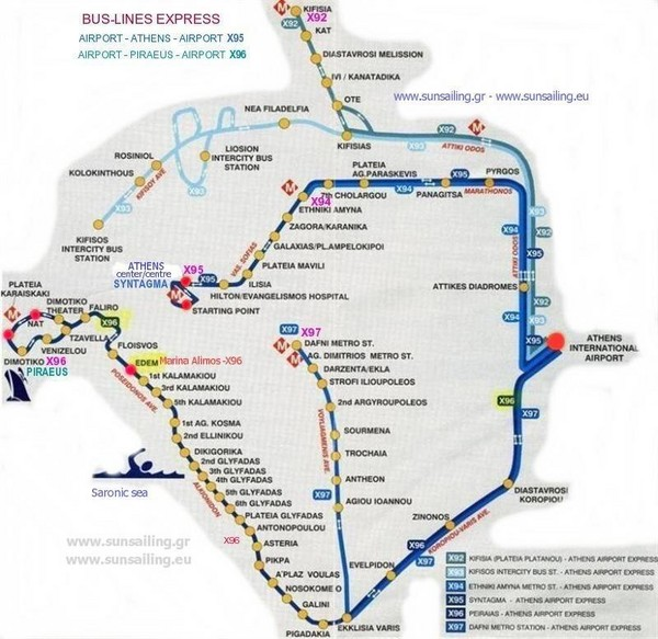 Athens Transportation Map