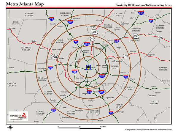 METRO ATLANTA PROXIMITY MAP You39ll Be About 15 Miles NW