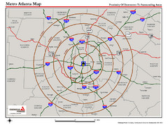 Atlanta Metro Proximity Ring Map