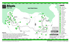 Atlanta, Texas Park Facility and Trail Map