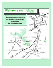 Atlanta, Texas State Park Map