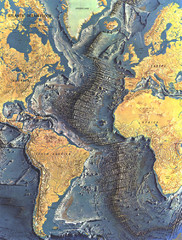 Atlantic Ocean Floor Map