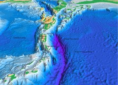 Atlantic Trench Bathymetric Map