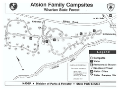Atsion Campground Map