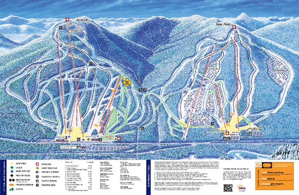Attitash Ski Trail Map