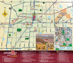 Attractions in Amarillo, Texas Map