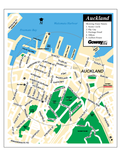 Auckland City Street Map Auckland City New Zealand mappery