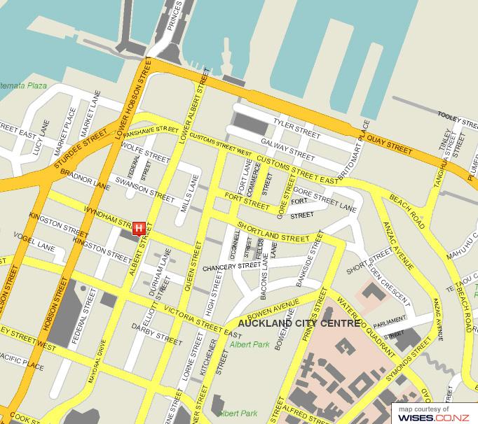 Auckland City Street Map - Auckland City New Zealand • mappery