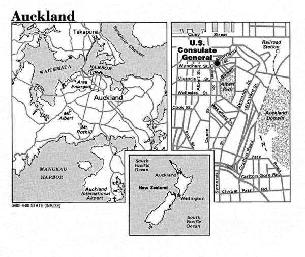 Auckland City Tourist Map
