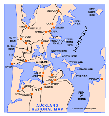 Auckland Map - Auckland New Zealand • mappery