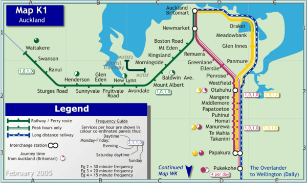 Auckland Rail Map