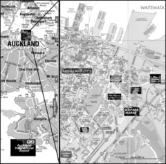 Auckland Tourist Map