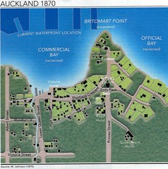 Auckland  in 1870 Map