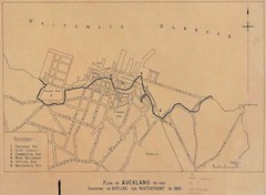 Auckland's Waterfront - Pre-1930 Map