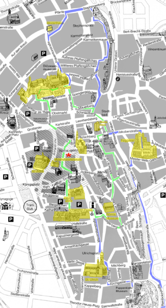 Augsburg Tourist Map