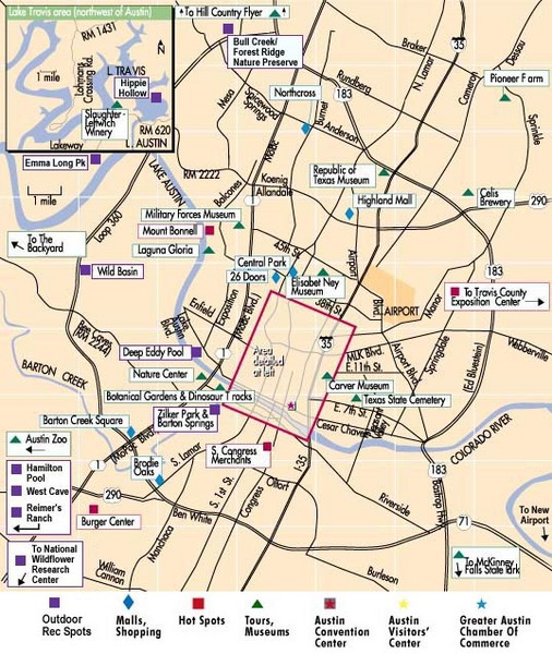 Austin maps mappery – Austin Texas Tourist Attractions Map