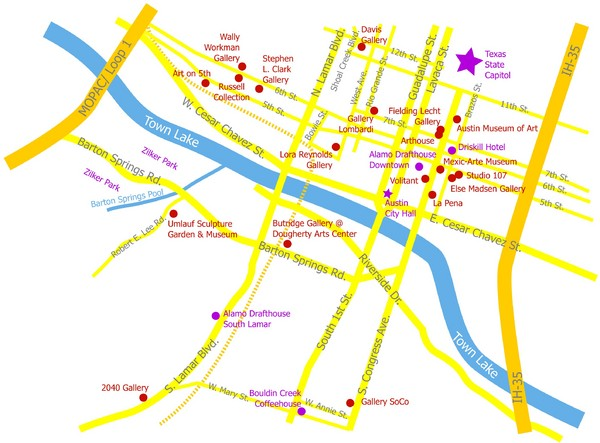 real life map collection mappery – Austin Tourist Map