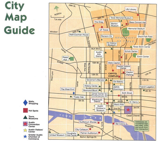 Austin Texas Tourist Map Austin Texas mappery – Austin Tx Tourist Attractions Map