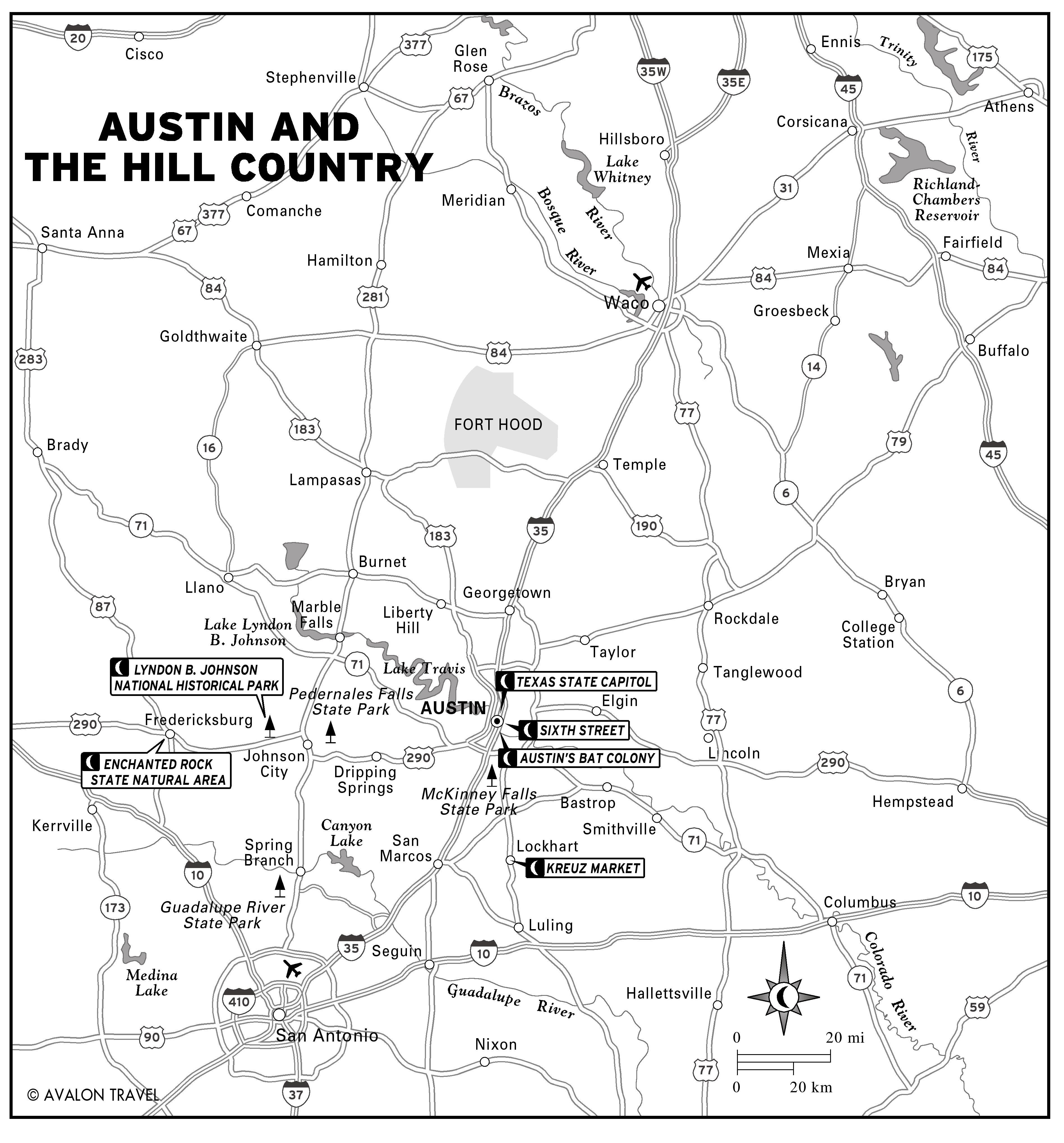 Texas Hill Country Map custom maps hop on hop off los angeles map