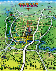 Austin, Texas Tourist Map
