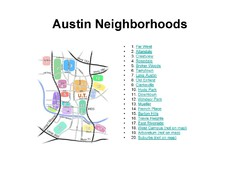 Austin Tx Neighborhoods Map