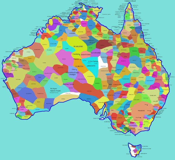 Australia Aboriginal Tribes Map