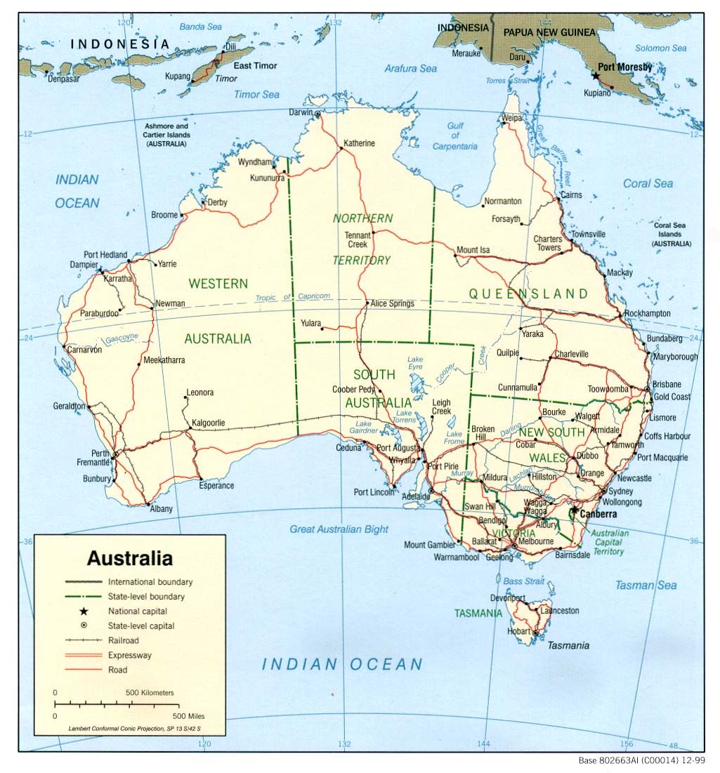 Australia Country Map Australia Mappery - Australia maps with countries